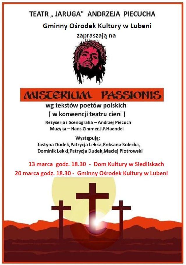 Misterium Passionis, reż. Andrzeja Piecucha